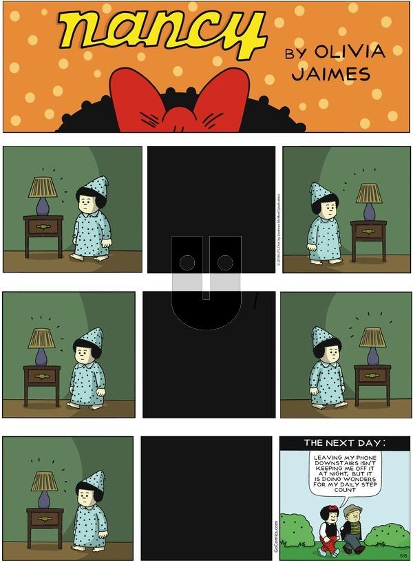 Nancy - Sunday May 6, 2018 Comic Strip