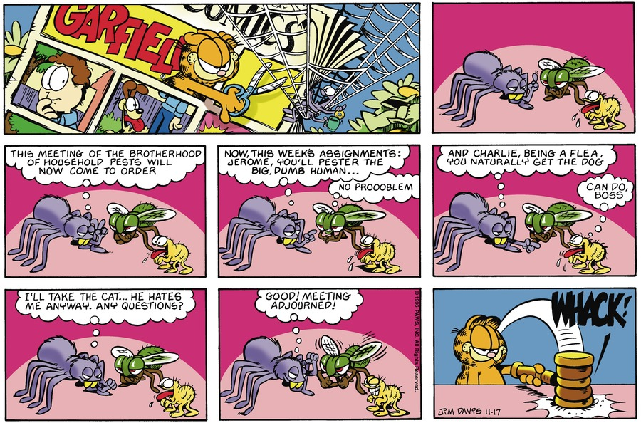 Garfield Comic Strip for November 17, 1996