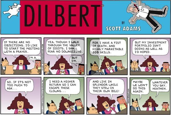 Dilbert on Sunday August 4, 2002 Comic Strip