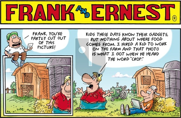 Frank and Ernest on Sunday May 14, 2017 Comic Strip