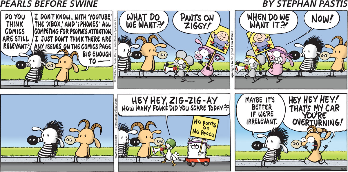 Pearls Before Swine Comic Strip for December 13, 2009