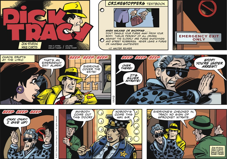 Dick Tracy Comic Strip for November 12, 2017