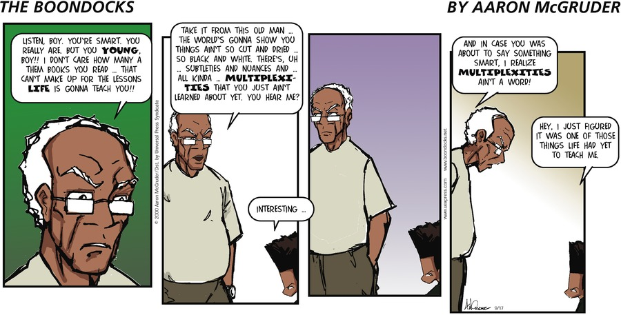 The Boondocks for Sep 17, 2000 Comic Strip