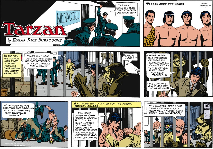 Tarzan Comic Strip for April 11, 2021