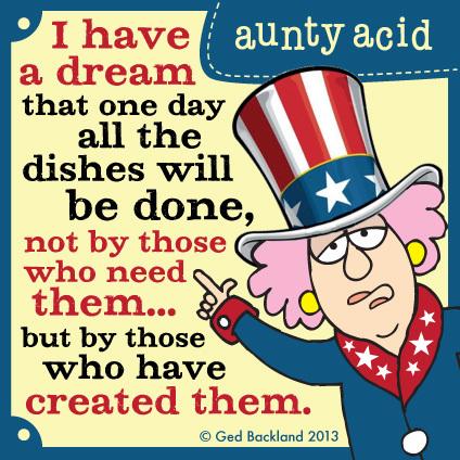 Aunty Acid for Nov 11, 2013 Comic Strip