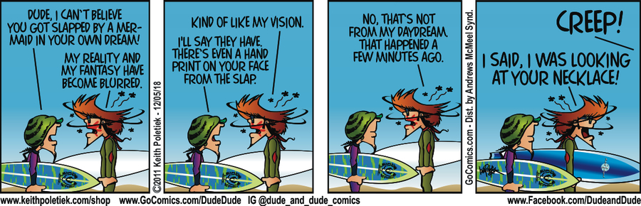 Dude and Dude Comic Strip for December 05, 2018