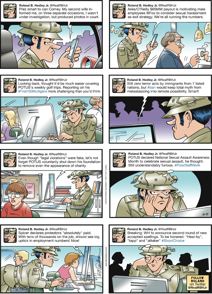 Doonesbury Comic Strip for June 11, 2017