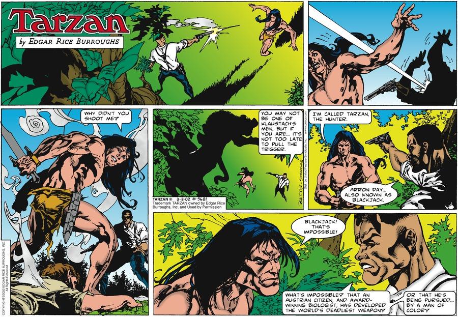 Tarzan Comic Strip for March 03, 2002