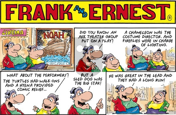 Frank and Ernest on Sunday May 18, 2014 Comic Strip