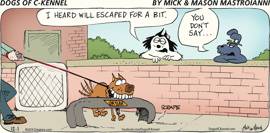 Dogs of C-Kennel Comic Strip for December 01, 2019