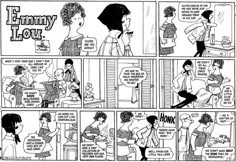 Emmy Lou Comic Strip for October 13, 2019