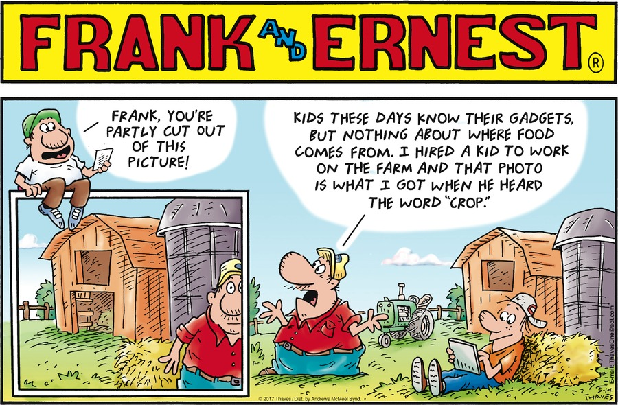 Frank and Ernest Comic Strip for May 14, 2017
