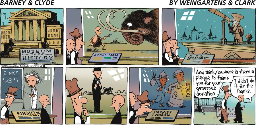 Barney & Clyde for Mar 31, 2013 Comic Strip