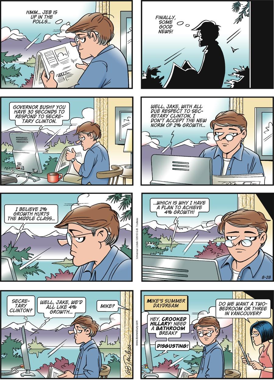 Doonesbury for Aug 28, 2016 Comic Strip