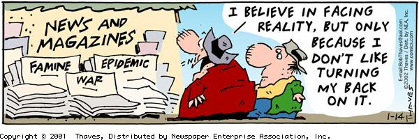 Frank and Ernest for Jan 14, 2002 Comic Strip