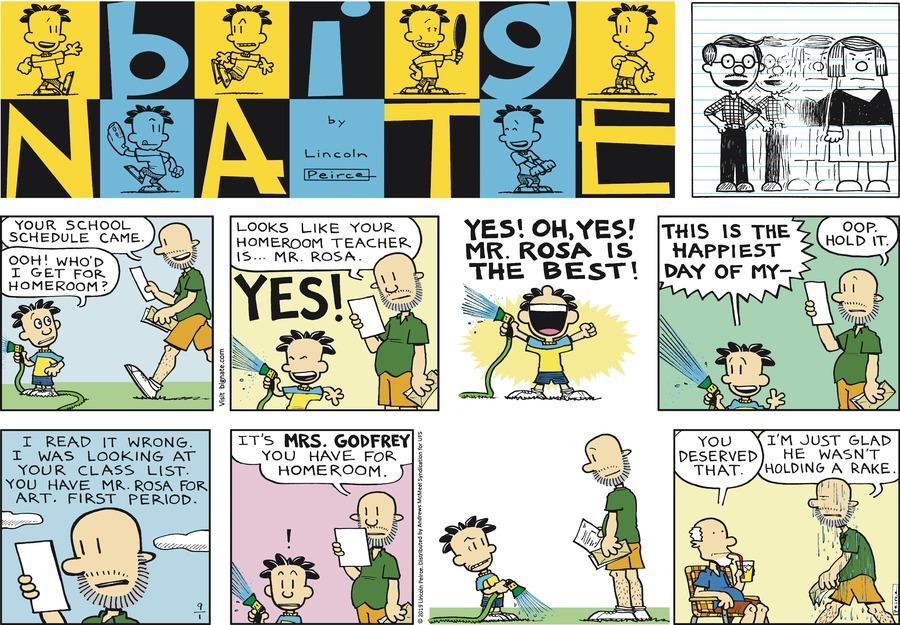 Big Nate Comic Strip for September 01, 2019
