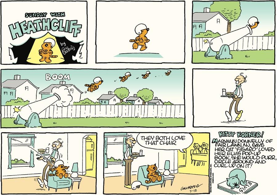 Heathcliff Comic Strip for February 10, 2019