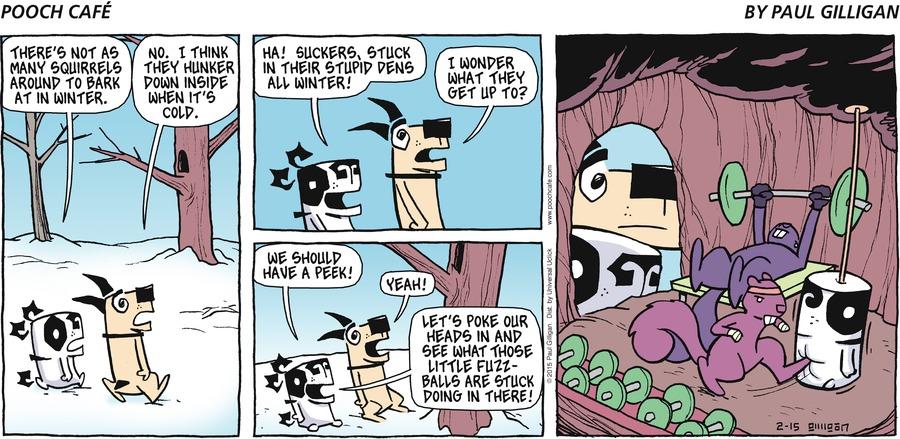 Pooch Cafe for Feb 15, 2015 Comic Strip