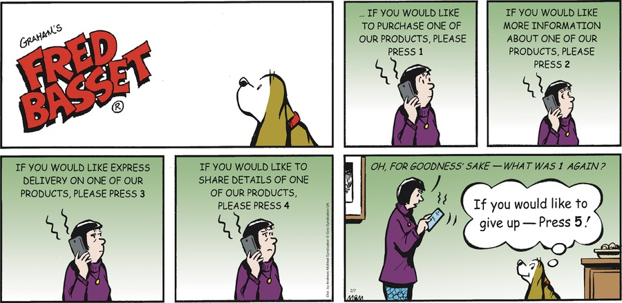 Fred Basset Comic Strip for February 07, 2021