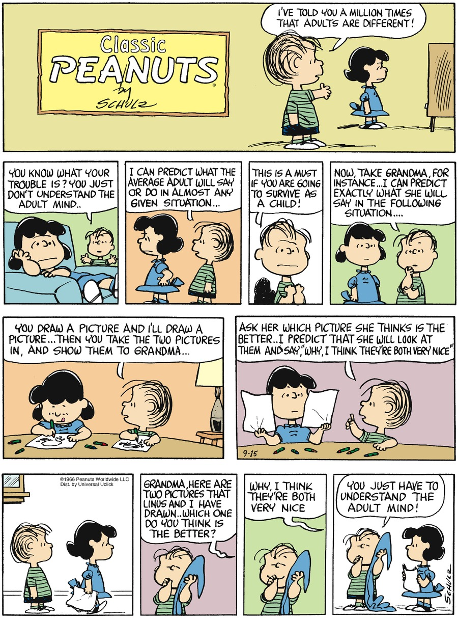 Peanuts Comic Strip for September 15, 2013