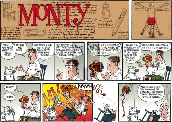 Monty on Sunday September 20, 2015 Comic Strip