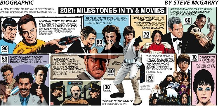 Biographic on Sunday December 20, 2020 Comic Strip