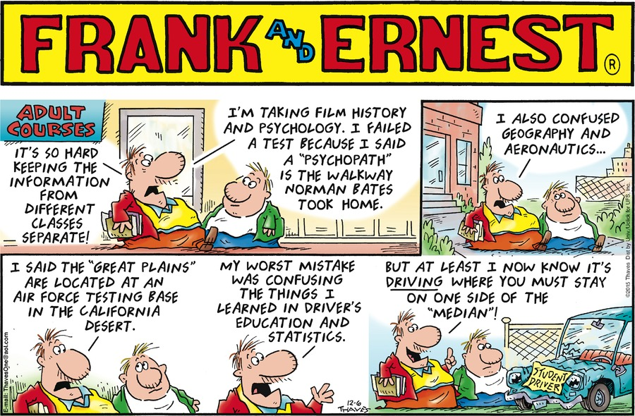 Frank and Ernest Comic Strip for December 06, 2015
