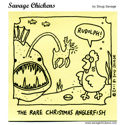 Savage Chickens for Dec 24, 2015 Comic Strip