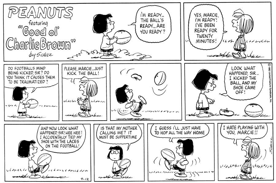 Peanuts Comic Strip for September 12, 1982