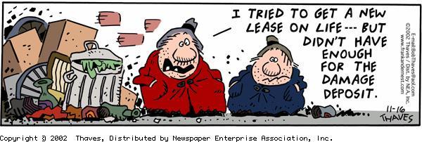 Frank and Ernest Comic Strip for November 16, 2002