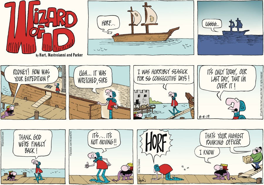 Wizard of Id Comic Strip for August 04, 2019