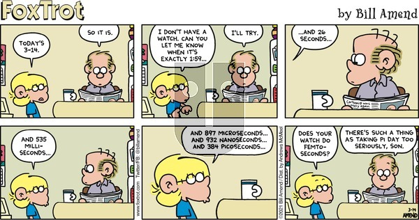 FoxTrot on Sunday March 14, 2021 Comic Strip