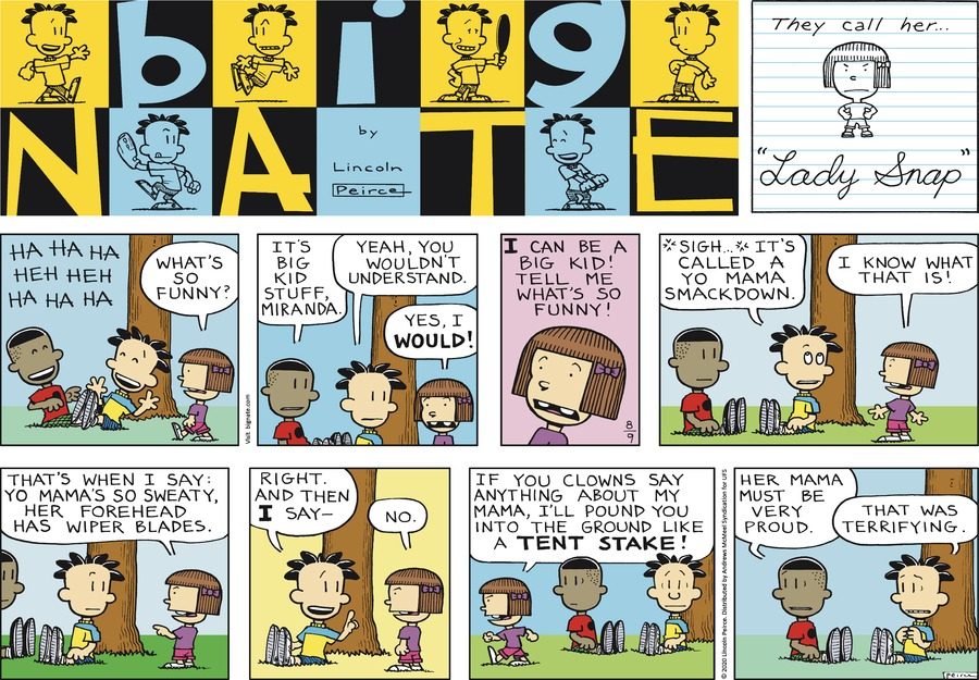Big Nate Comic Strip for August 09, 2020