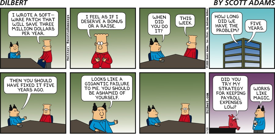 Should Have Done It Sooner - Dilbert by Scott Adams