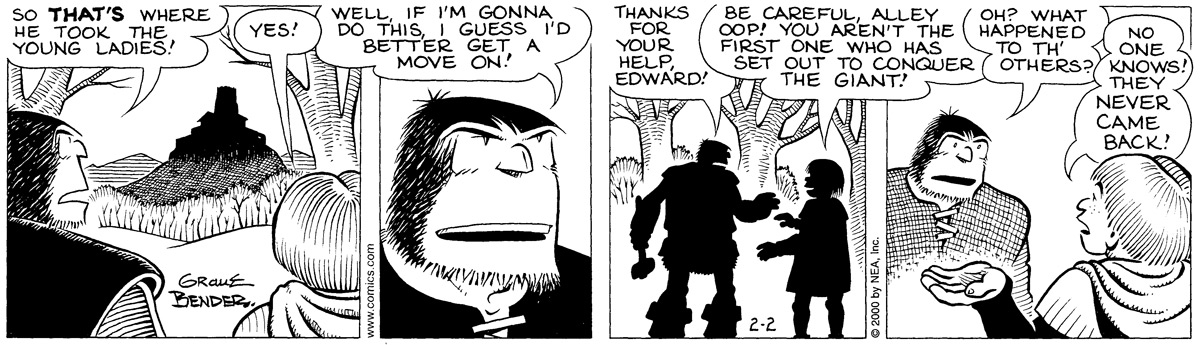 Alley Oop for February 02, 2000 Comic Strip