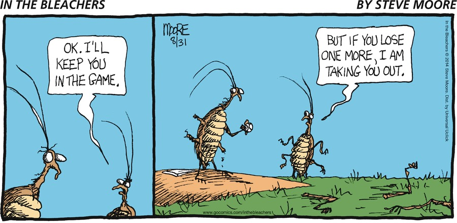 In the Bleachers for Aug 31, 2014 Comic Strip