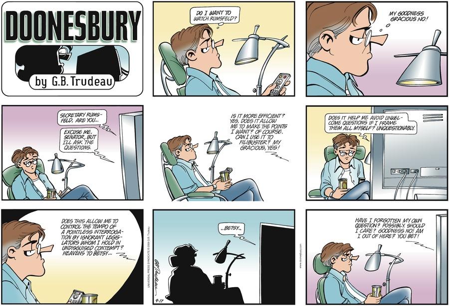 Doonesbury Comic Strip for September 17, 2006