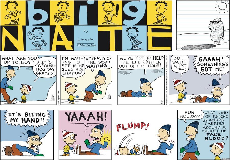 Big Nate Comic Strip for February 02, 2020