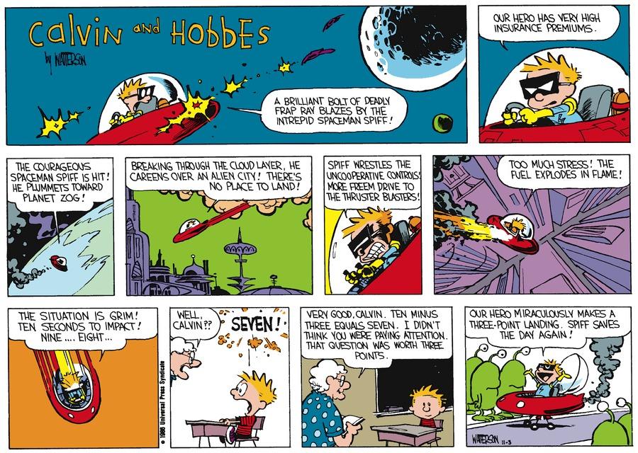Calvin and Hobbes Comic Strip for November 30, 1986