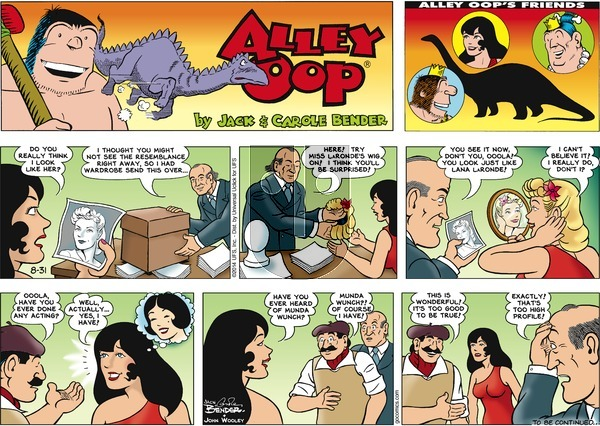 Alley Oop on Sunday August 31, 2014 Comic Strip