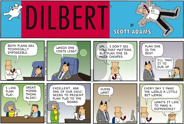 Dilbert - Sunday August 11, 2002 Comic Strip