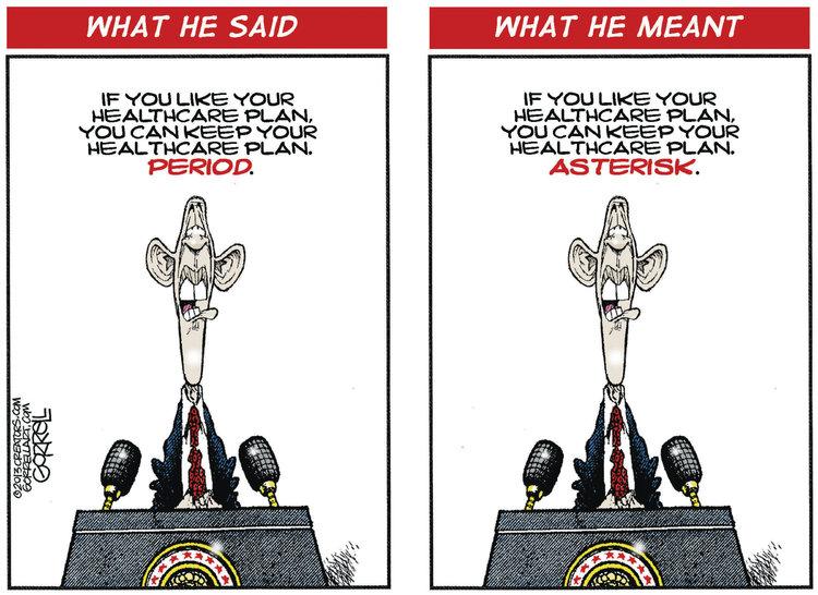 Bob Gorrell for Nov 1, 2013 Comic Strip