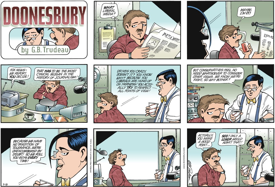 Doonesbury Comic Strip for July 13, 2003