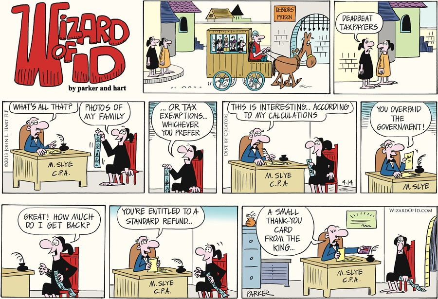 Wizard of Id Comic Strip for April 14, 2013