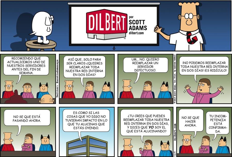 Dilbert en Español Comic Strip for July 21, 2019