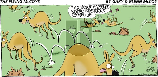 The Flying McCoys on Sunday October 11, 2015 Comic Strip