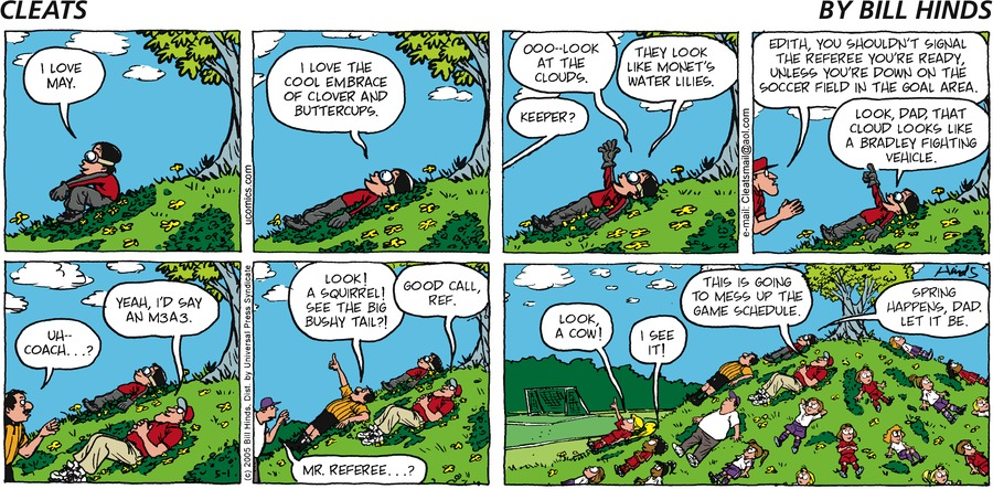 Cleats Comic Strip for May 01, 2005