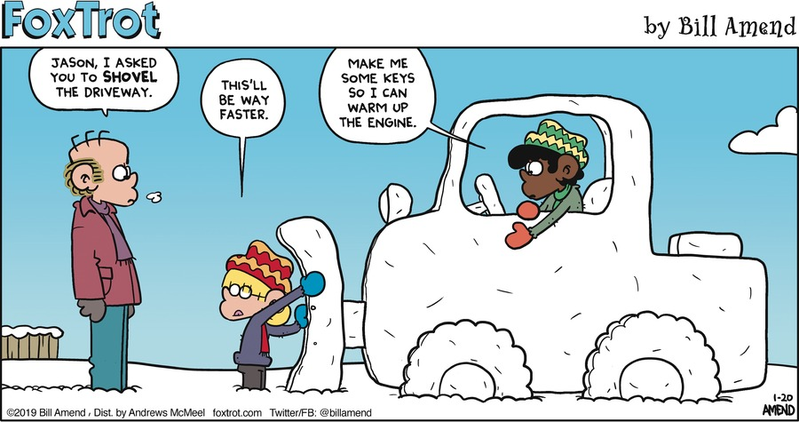 FoxTrot by Bill Amend for January 20, 2019