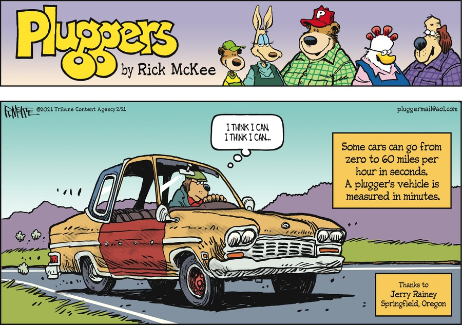 Pluggers Comic Strip for February 21, 2021