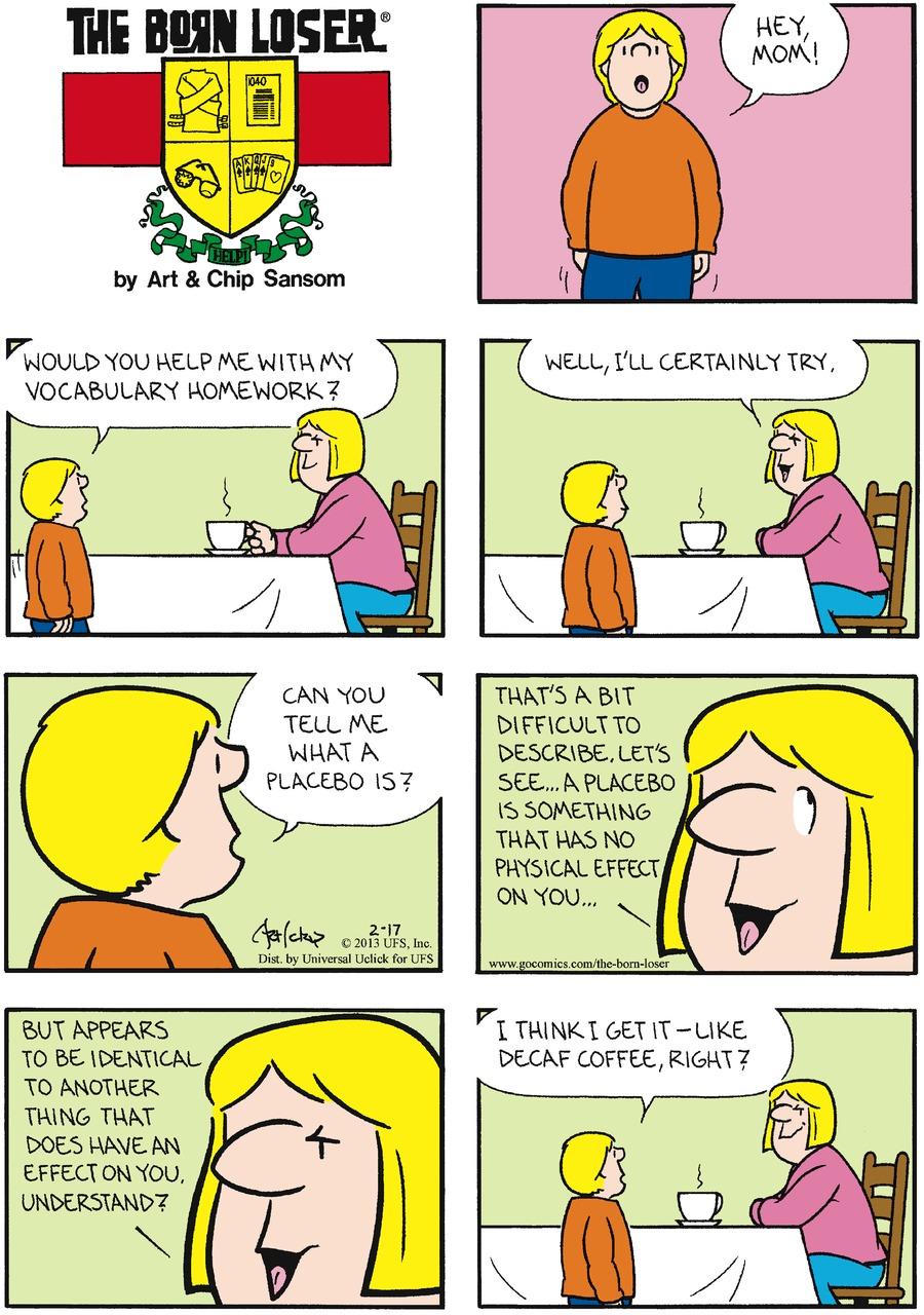 The Born Loser for Feb 17, 2013 Comic Strip